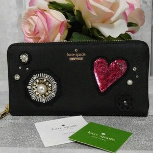 Kate Spade Finer Things Embellished Lacey Wallet